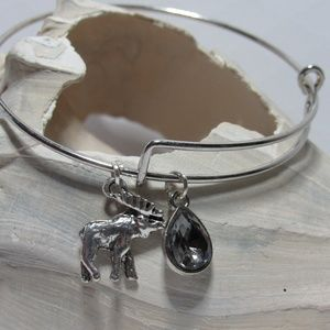 Woodland Moose Elk Adjustable Charm Bracelet